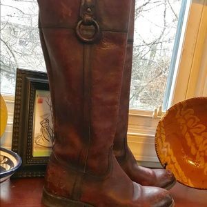 "Frye ""Jamie"" tall riding boots."